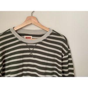 Men's Levi's Long Sleeve Green Stripe Shirt